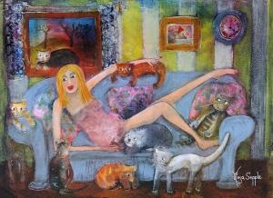'Afternoon Cuddles'-Rosa Sepple RI (1)